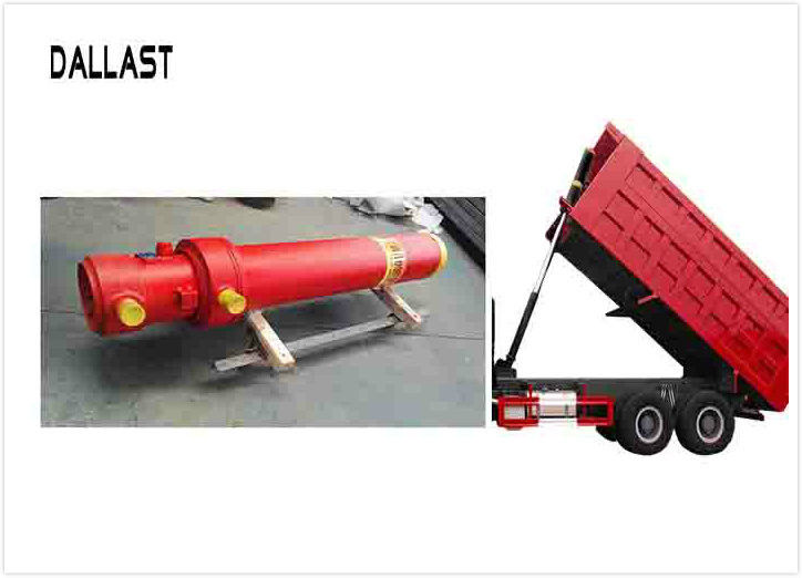Standard Hydraulic Lift Cylinder Multi Stage Single Acting Chrome for Truck Lifting